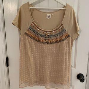 Anthropologie Short Sleeve Shirt